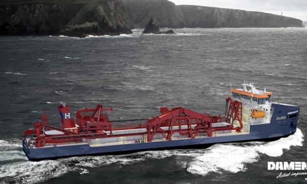 Wärtsilä chosen for another environmentally sustainable hopper dredger from Damen Shipyards