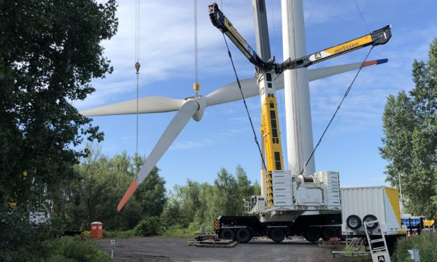 ENGIE replaces two wind turbines in the port of Ghent with three new, more powerful and efficient wind turbines