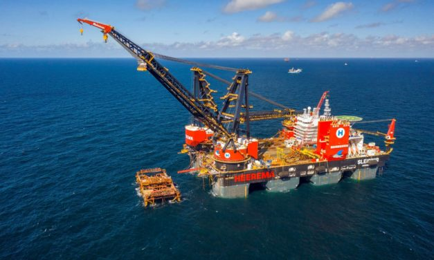Heerema's Sleipnir breaks own record with 10100 mT jacket lift