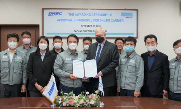 DNV GL awards AIP to Daehan Shipbuilding for small-size LPG carriers
