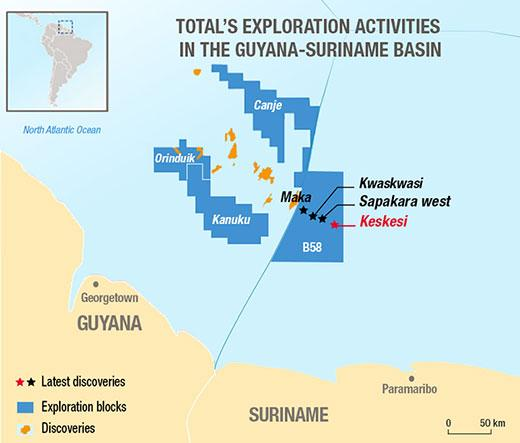 Total, new operator of Block 58 offshore Suriname, makes fourth discovery