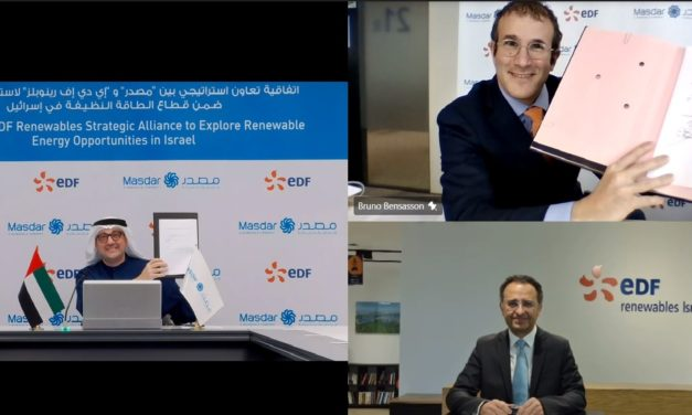 Masdar and EDF Renewables enter strategic alliance in Israel