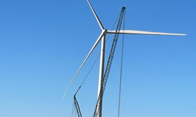First turbine up at Port Augusta Renewable Energy Park in Australia