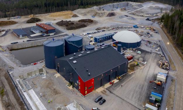 Jari Leppä opens Gasum's new biogas plant in Lohja