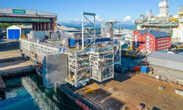 Aker Solutions delivers large Johan Sverdrup module