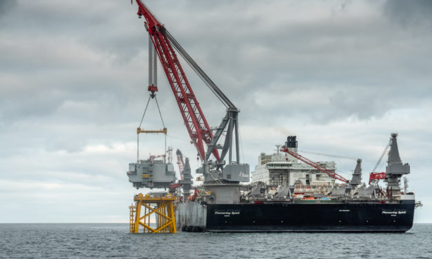 Construction of first offshore wind farm in France at Saint-Nazaire