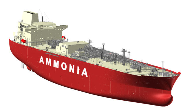 HHI & KSOE receive Approval in Principle for Ammonia Carrier